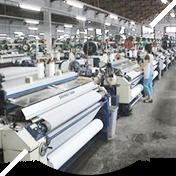 On machine weaving